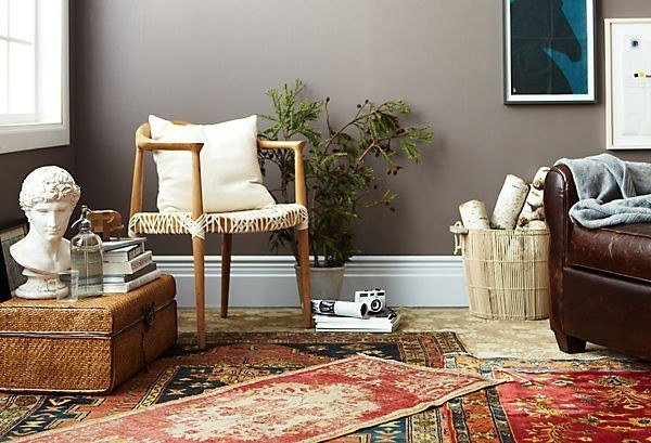 colourful living room rug
